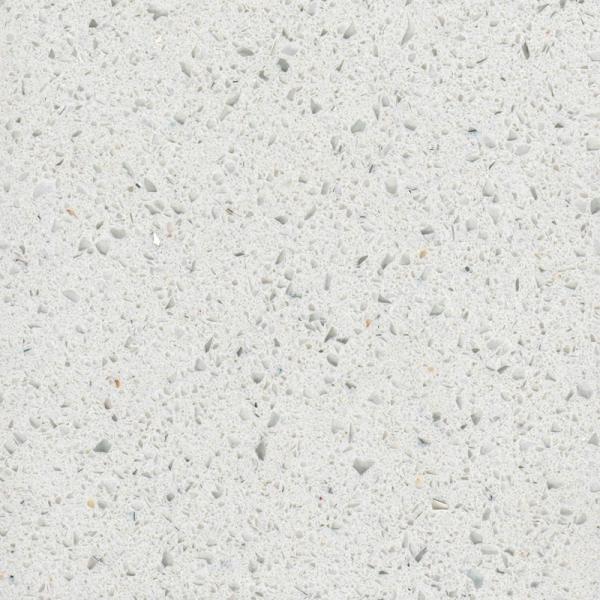 White Mirror Artificial Quartz Stone Slab Engineered