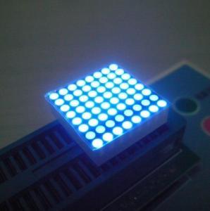 China High Brightness 2mm Led Dot Matrix Display 0.8 Inch black Surface wholesale