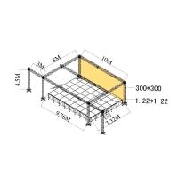China Exhibitions Aluminum Stage Truss Quickly Install Made By 6082-T6 wholesale