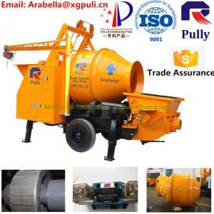 China mini concrete mixer pump, manual concrete mixer machine, 30m3/h concrete mixer pump with electric engine for sale wholesale