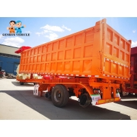 China Heavy Duty 3 Axles Dump Tipping Truck Trailer With Mechanical suspension/ America type on sale