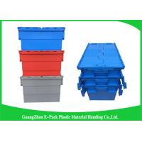 China Stackable Plastic Storage Containers With Attached Lids Heavy Duty wholesale