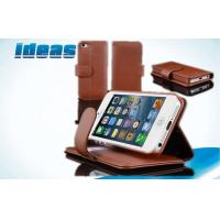 Brown Magnetic Covers Apple iPhone Leather Cases Wallet for iPhone 5