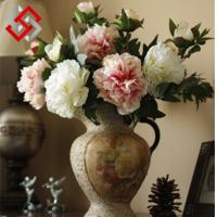 China Peony Floral Artificial Flower for Bonsai and Christmas Decoration on sale