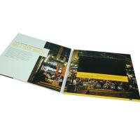 China Business Booklet LCD Video Brochure 4 Color CMYK Printing 4GB Memory wholesale