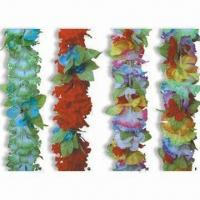 China 100% Polyester Hawaiian Flower Leis with 90cm Long, Available in Multicolor wholesale