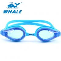 China Blue Hypoallergenic Silicone Swimming Goggles For Kids And Early Teens wholesale