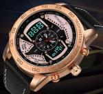 China Wholesale retail oem Boamigo New Degign Dual Display 30m Waterproof Men Wrist Watches F535 wholesale