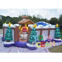 China 8 X 8m Large Christmas Inflatable Playground Inflatable Snowman Bouncy Castle wholesale