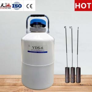 China TianChi 6L Liquid Nitrogen Tank YDS-6-50 Cryogenic Semen Container Price on sale