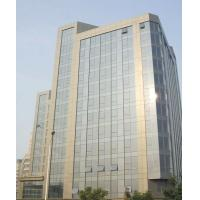 China Ocean Blue Low E Insulated Glass Curtain Walls With 5mm+6A+5mm, 6mm +9A+6mm Thickness on sale