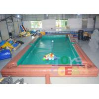 Quality Adults Inflatable Interactive Games Inflatable Table Snooker Pool Game With No.5 for sale