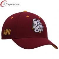 China Red Minnisota Bulldogs Triple Threat Wool Baseball Caps with Velcro Closure wholesale