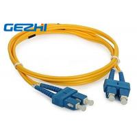 China 3D Passed optical patch cord SC / UPC - SC / UPC single mode fiber jumpers wholesale