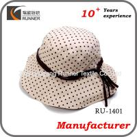 China Ladies fashion wide brim sun hat wholesale