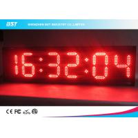 China Modern Small Led Clock Display , Semi Outdoor Accurate Wall Clock wholesale