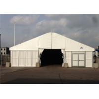 China 25m * 40m Big Roof Marquee Tent Clear Span Steel Buildings With ABS Solid Wall System wholesale