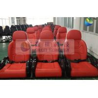 China Red Color Motion Theater Chair , With Air And Water Effects wholesale