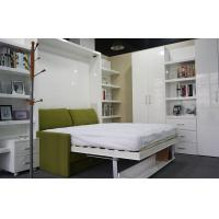 Buy cheap Home Use Functional Fashional Double Wall Bed With Sofa And Bookshelf , Color White from wholesalers