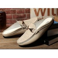 China Creative Design Mens Backless Loafers , Backless Slip On Shoes MOC Toe wholesale