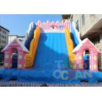 China Lovely Pink Inflatable Slides Castle Toboggan Slide For Children PVC Material wholesale