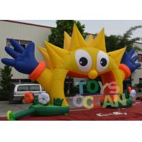 China Outdoor Decorative Advertising Inflatables Sunflower Entrance Arch For Party wholesale