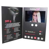 China Advertising promotional lcd video greeting card with Magnetic switch , ON / OFF button switch wholesale