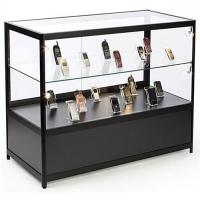 "China Lockable Cell Phone Display Case , 48"" Retail Glass Countertop Display Case wholesale"