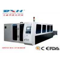 China Fully Enclosed Fiber Laser Metal Cutting Machine , CNC Metal Laser Cutter PC Control wholesale