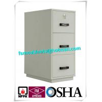 China Metal Locking Fireproof File Cabinet Three Drawer 1 Hour Fire Rating wholesale