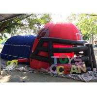 China Giant Outdoor Inflatable Sport Game / Inflatable Football Sports Tunnel For Boys wholesale