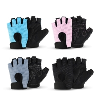 China Fashion half finger cycling fitness custom gym weight lifting gloves for women wholesale
