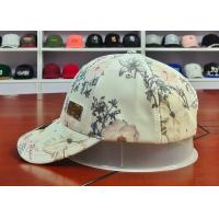 China Customized Colors Chinese Style ACE Flower Printed Logo 6panel metal patch Baseball Sport Caps Hats wholesale