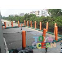China Giant Orange Inflatable Paintball Bunkers Arena Pitch For Shooting wholesale