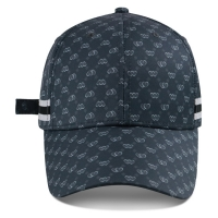 China Custom Logo Structured Baseball Cap Sports Hat Strap With Metal Buckle Sublimation Printing wholesale