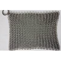China 6*8 Inch Stainless Steel  Cast Iron Skillet Cleaner Chainmail Scrubber For Cast Iron Pan wholesale