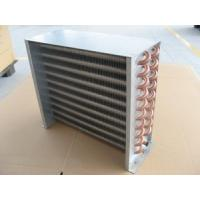 China 7, 7.94, 9.52, 12.75mm Copper Tube Aluminum Fin Cold / Hot water Air Cooled Condenser wholesale