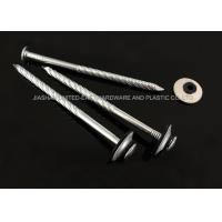 China Electro Galvanized Roofing Nails Combined Washer Corrosion Resistant Needle Point wholesale
