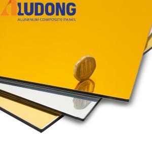 China 3MM Gold Silver Mirror Aluminum Composite Panel PE Coating wholesale