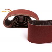 China 60 Grit Abrasive Metal Sanding Belts For Polishing Stainless Steel / Wood / Stone wholesale