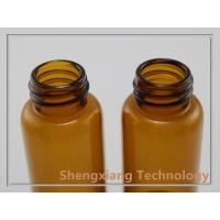 Quality 15ml Amber Glass Vial With Aluminum Scrwe Cap , D25mm × H58mm for sale