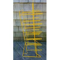 China Yellow Wire Flooring Display Stands , Custom Cheese Store Food Display Rack wholesale