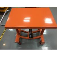 China Four Wheels Electric Hydraulic Lift Table Adjustable Height 610 X 915 Mm Table Dimensions wholesale