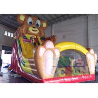 China Outdoor Lovely Giant Bear Inflatable Slides Bouncer Trampoline Amusement wholesale