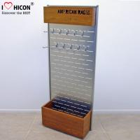 China Customized Free Standing Slatwall Display Stands With Storage In Wood Metal wholesale