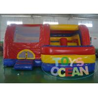 China Multiplay Colorful Kids Bounce House With Slide 15OZ PVC EN14960 wholesale