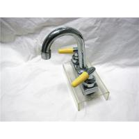 China Chrome Plated Two Handle Kitchen Faucet With Pull Down Sprayer / Two Ceramic Handle wholesale