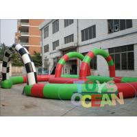 Quality Small Digital Printing Inflatable Go Kart Racing Track For Kids Karting Car Event for sale