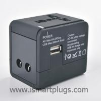 China Surge Protector All-in-one Universal Travel Adapter with 1A USB charger TQ607-1 wholesale
