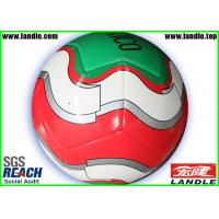 China PVC / PU / TPU Material Customized Soccer Balls , Machine Stitched Genuine Leather Soccer on sale